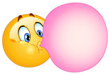 Fototapety Bubble gum emoticon