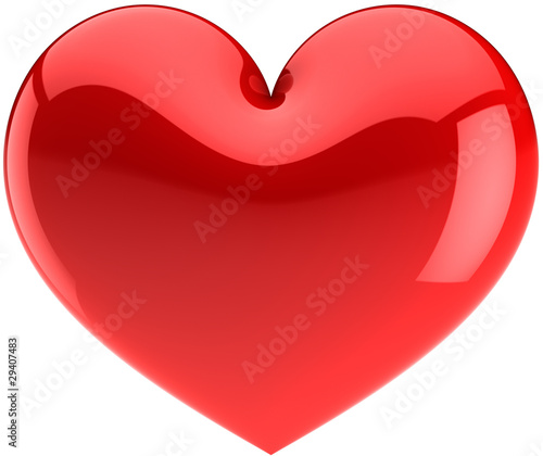 Red heart icon. I Love You symbol classic (Hi-res)