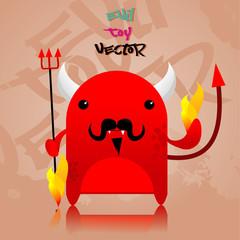 devil cartoon vector illustration