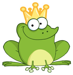 Happy Frog Prince Cartoon Character