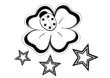 quadrifoglio e stelline tatoo