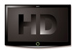 LCD TV HD black