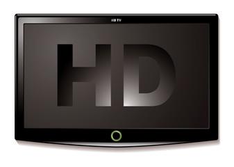 LCD TV HD black