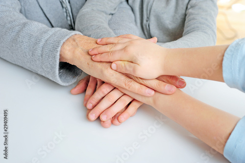 Viele Hände übereinander