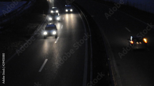 Foto op Aluminium Nacht snelweg Autobahn bei Nacht