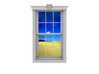 ventana y desierto