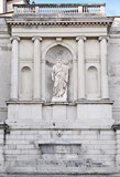 Moses statue in Sacro Monte of Varese, Italy poster