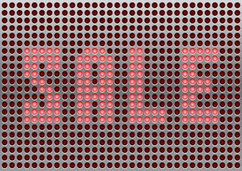 Metal annunciator panel