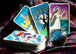 Tarot cards and crystal ball