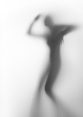 Dancer woman silhouette