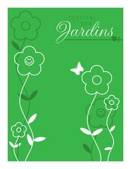 jardin jardinage printemps festival fleur plantation affiche