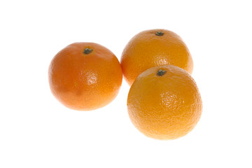 Mandarine isolated on white background