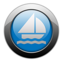 "Metallic Orb Button ""Sailing"""