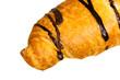 Croissant mit Schoko-Überzug,freigestellt