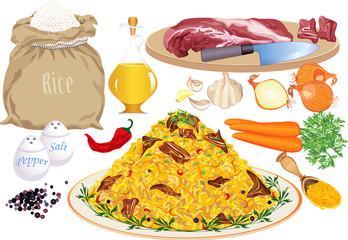 Pilaf and pilaf ingredients