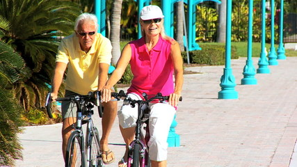 Happy Healthy Cycling Seniors filmed at 60FPS