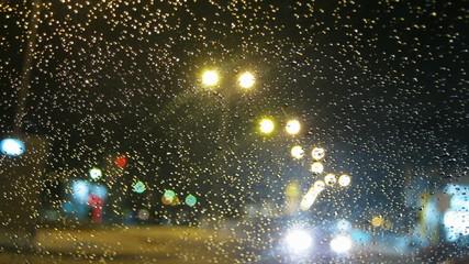 Night city street traffic time lapse HD