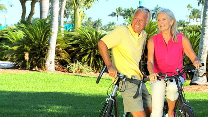Fit & Healthy Cycling Seniors filmed at 60FPS