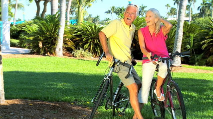 Fit & Healthy Older People Cycling filmed at 60FPS