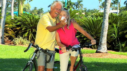 Older Couple With Bicycles & a Camera filmed at 60FPS