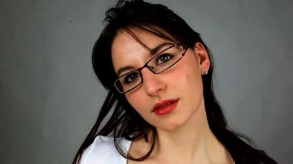 la belle aux lunettes