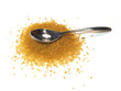 spoon and brown sugar