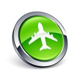 icône bouton internet avion