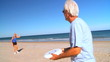 Seniors Healthy Fun Beach Exercise filmed at 60FPS