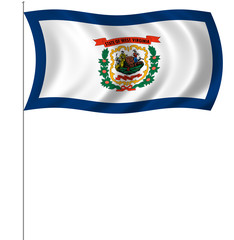 Flag of West Virginia with pole flag