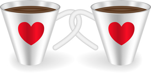 Cups with hearts