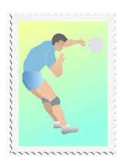 Volleyball. Vector stamp