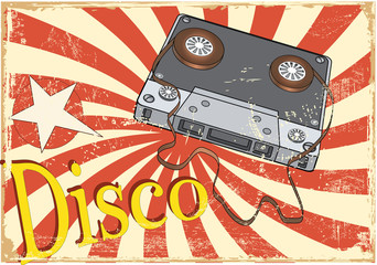 Audio cassette and the poster