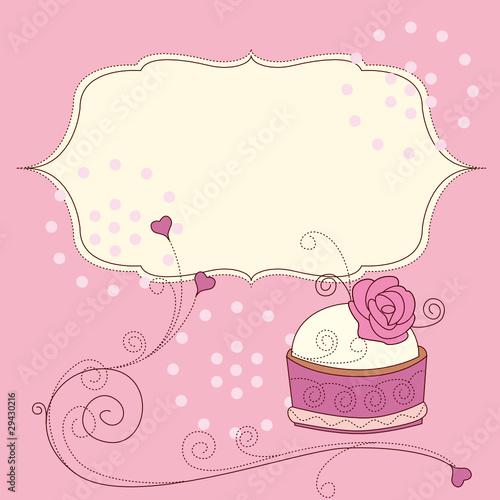 高清蛋糕模板底纹