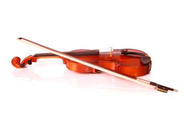 Violin isolated on white