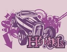 Grunge Background Automobile