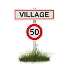 panneau village 50