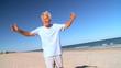 Senior Male Beach Exercise