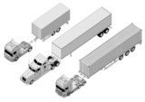 Vector semi-truck set