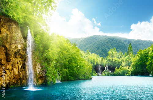 Fototapety, obrazy : waterfall in deep forest