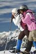Schneeschuhwanderer bei der Wanderung durch die Alpen