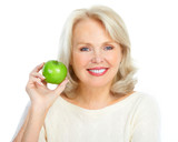 Fototapety woman with a green apple