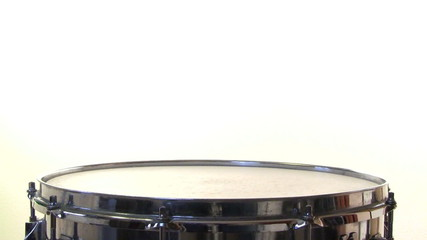 Snare Drum Roll on white background