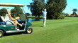 Senior Male Learning to Play Golf in Retirement