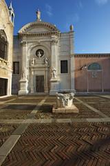 La facciata dell'Abazia, Venezia