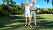 Mature Lady Learning to Play Golf filmed at 60FPS