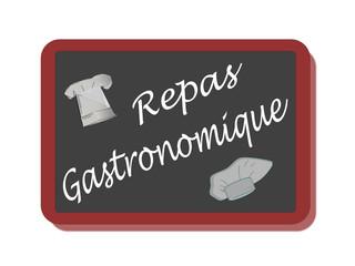 PANNEAU REPAS GASTRONOMIQUE
