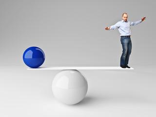 man in balance