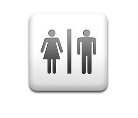 Boton cuadrado blanco unisex