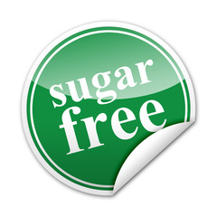 Pegatina sugar free con reborde