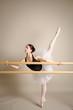 ballerina in riscaldamento